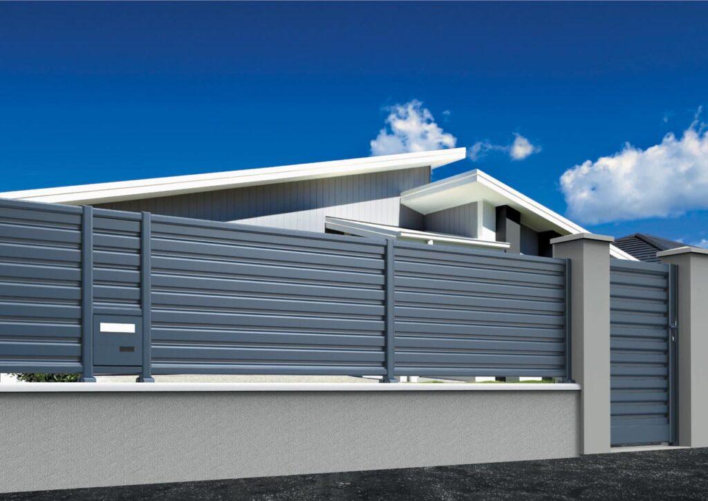 Clôture aluminium assortie à votre portail sur mesure