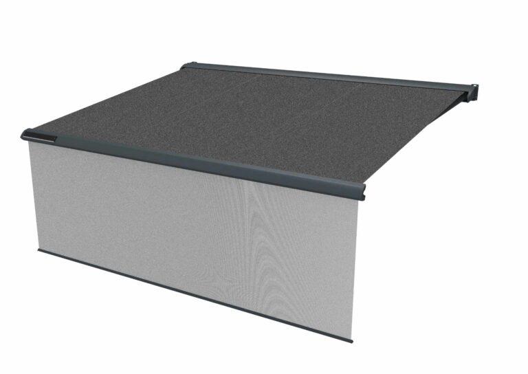 Portail battant en aluminium CAPITAN-2 Vous êtes complètement libre sur le choix de la couleur et des motifs pour la toile.
