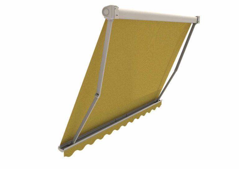 Portail battant en aluminium OURAL-6 Le mécanisme permet une très forte inclinaison, presque à la verticale.