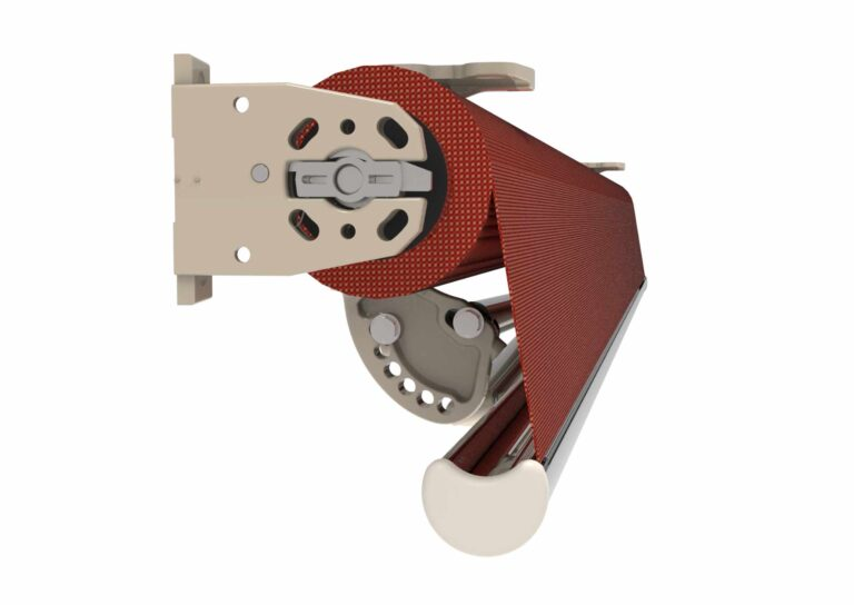 Portail battant en aluminium DENALI-7 Le store DENALI offre la possibilité d'une très forte inclinaison pour créer de l'ombre ou se protéger de la vue des voisins.