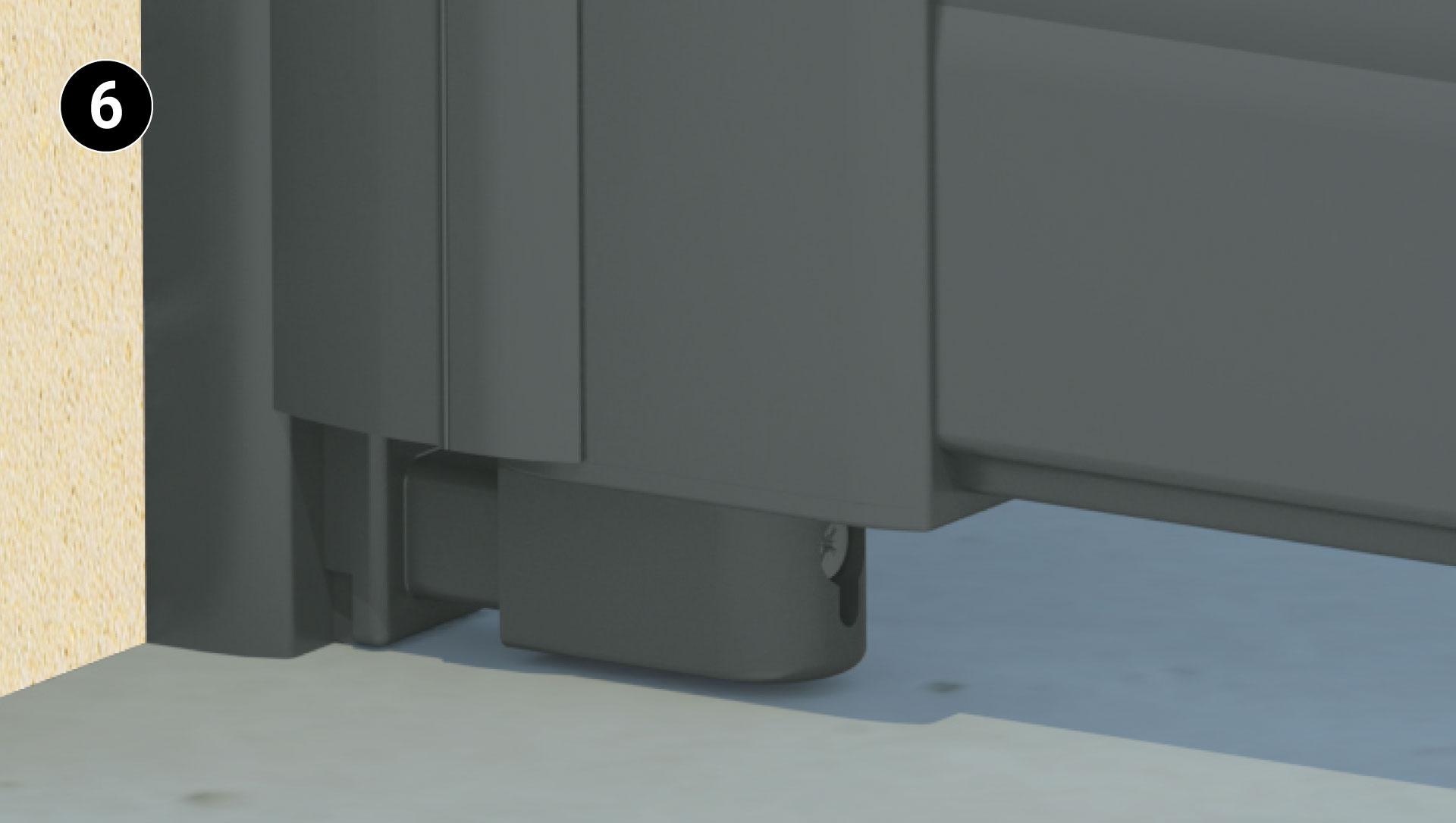Pivot laqué de la couleur du portail