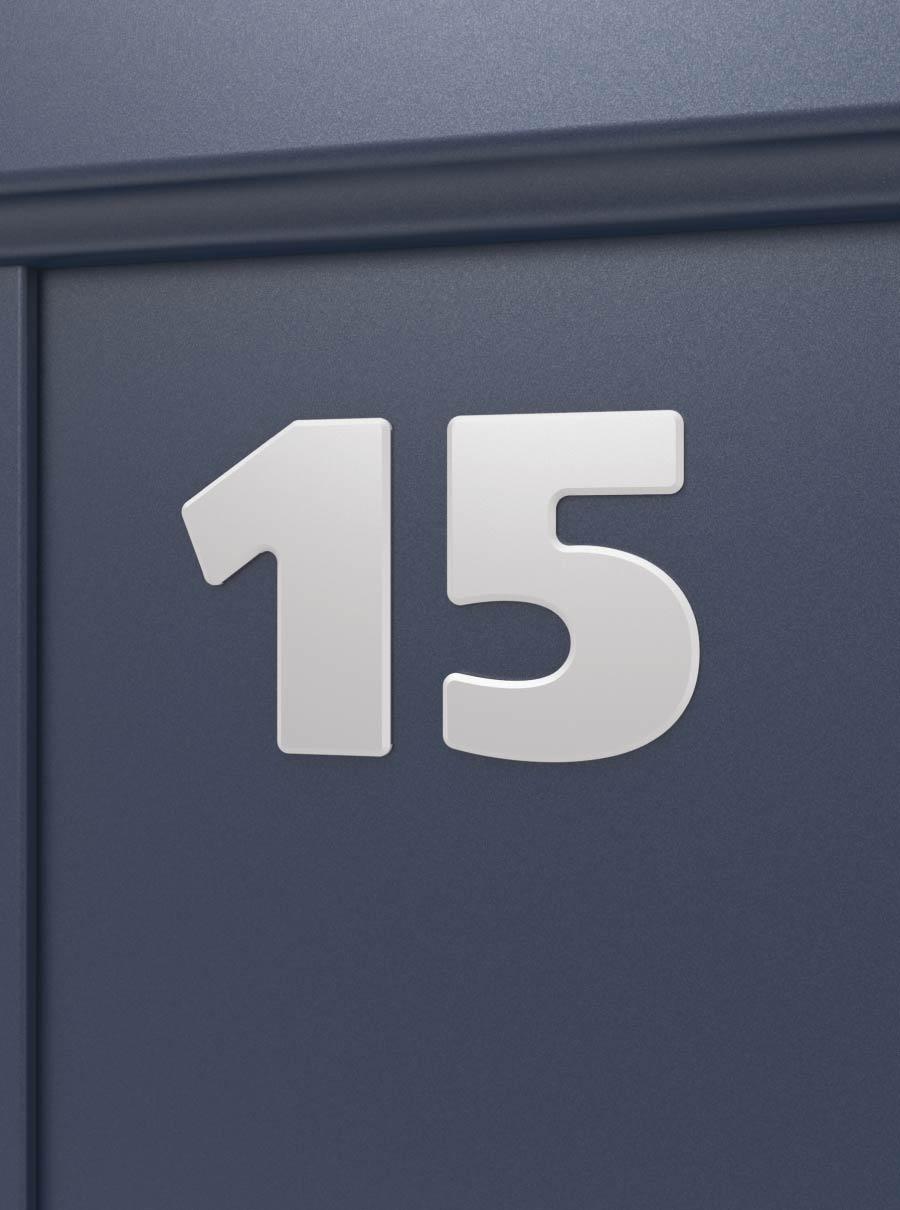 Numéro de maison sur portail aluminium