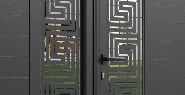 Décor labyrinthe sur portail