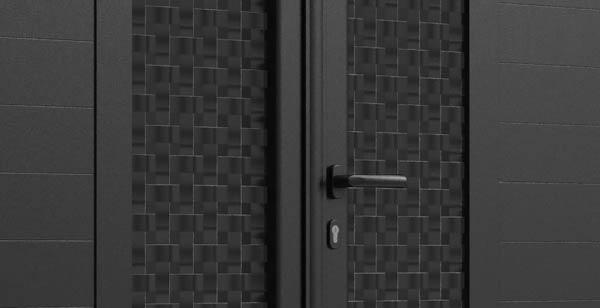 Décor tresse sur portail