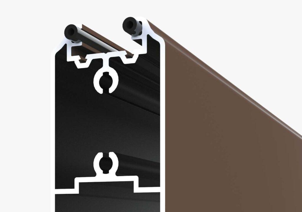 Joints anti vibration portail aluminium
