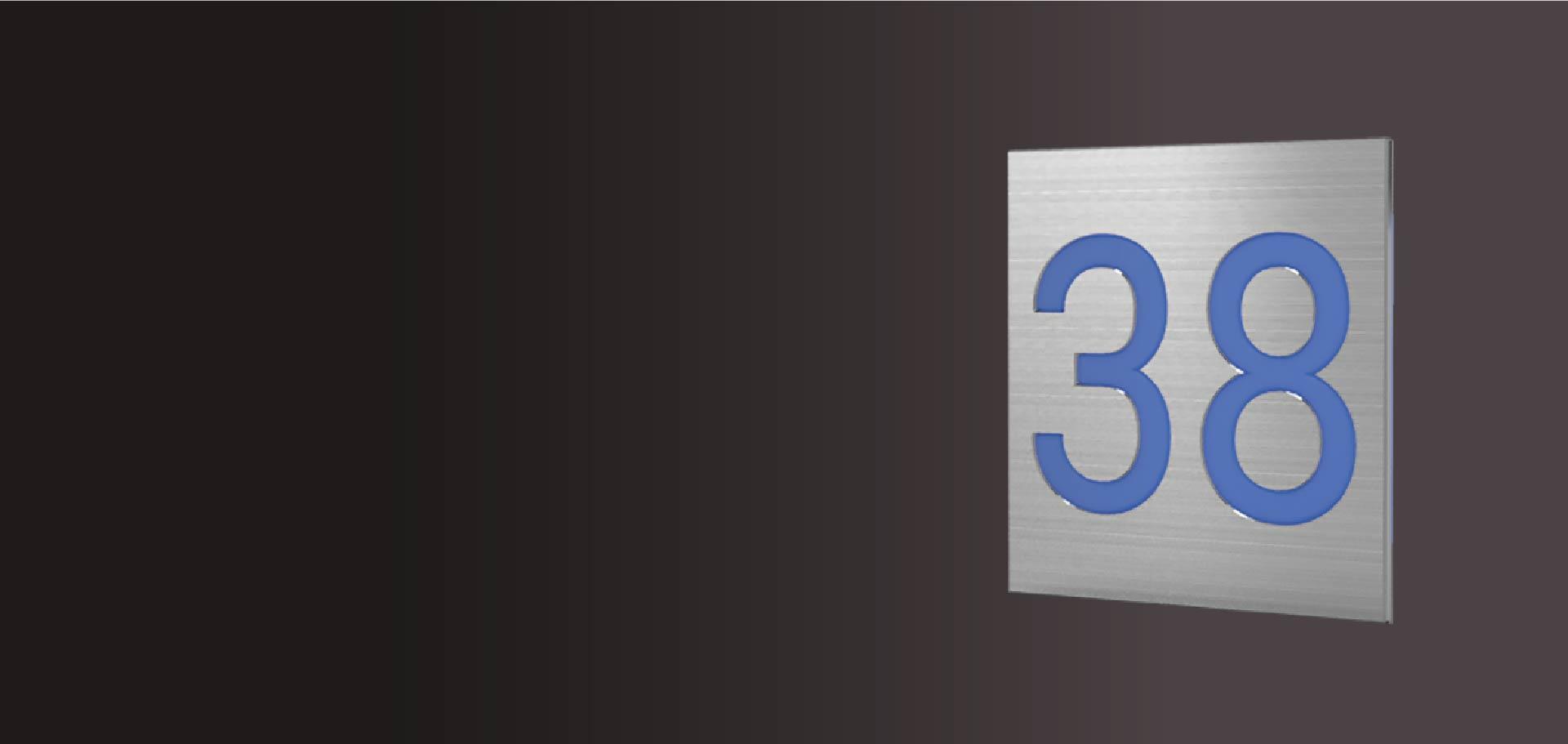 Numéro de maison sur portail