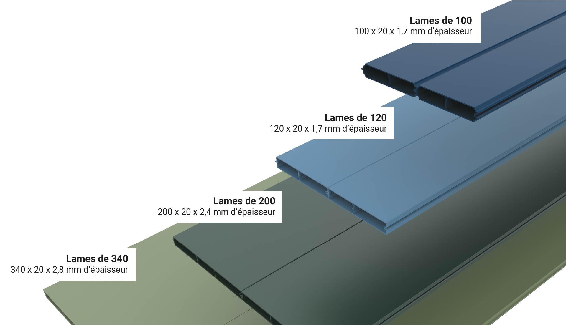 Couleurs des lames aluminium de portail