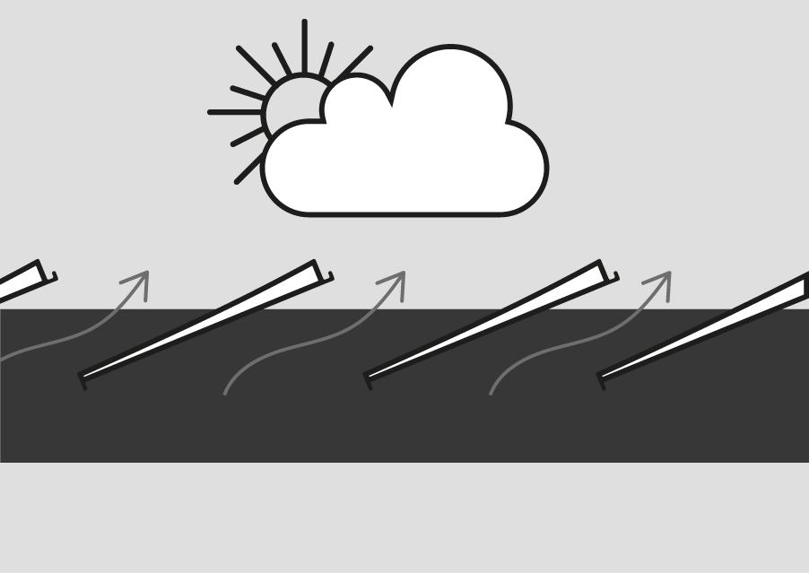 Orientation des lames de pergola bioclimatique sous une légère pluie
