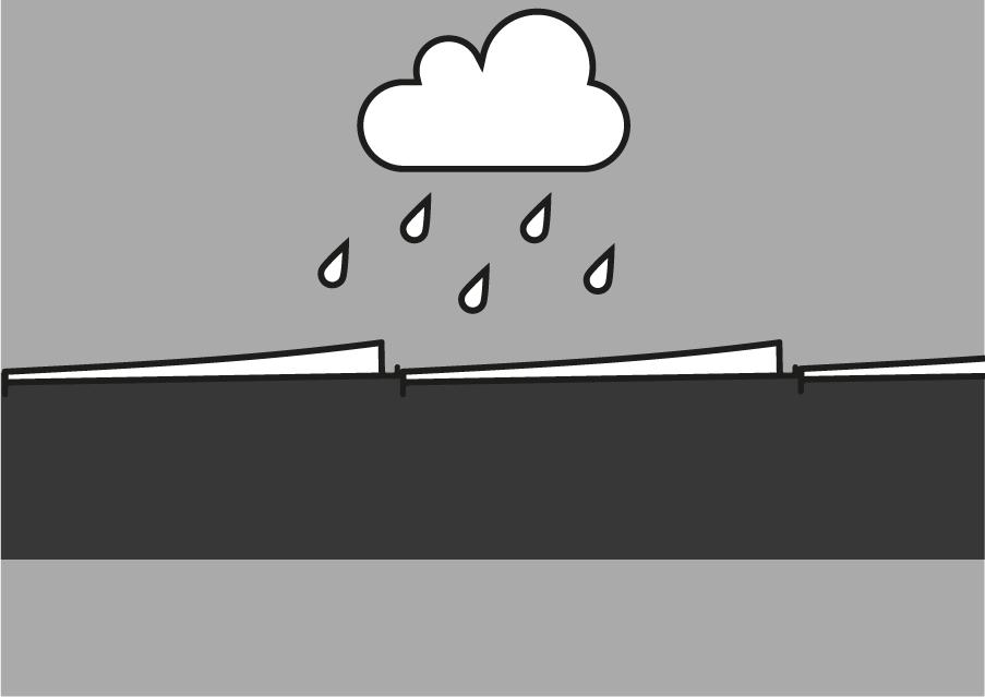 Orientation des lames de pergola bioclimatique sous la pluie