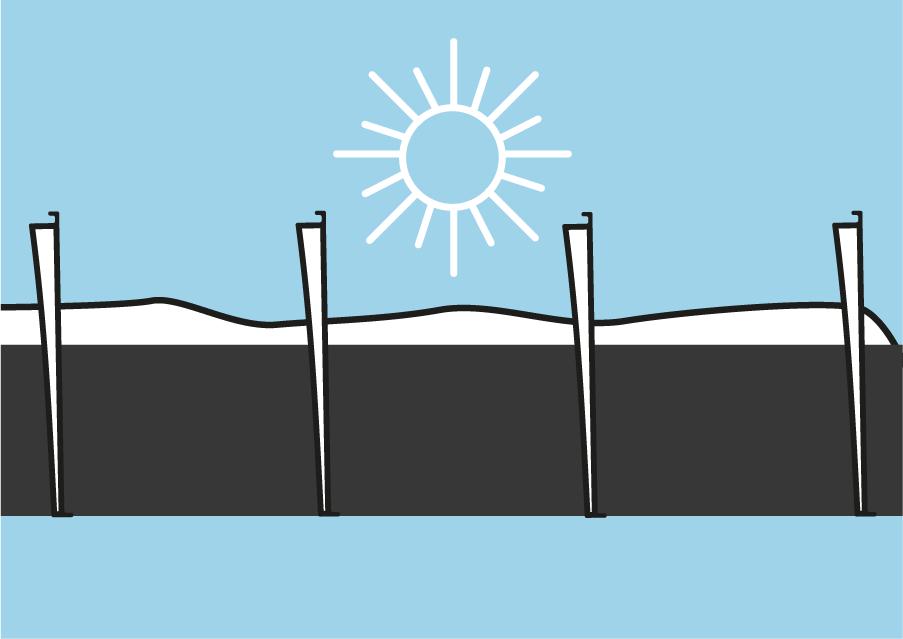 Orientation des lames de pergola bioclimatique sous le soleil d'hiver